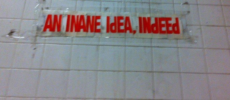 An Inane Idea, Indeed